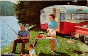 camping - classic car