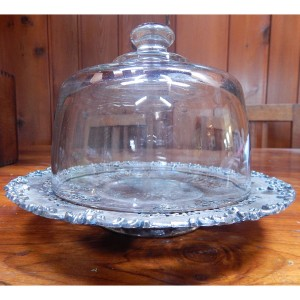 glass & silver cloche