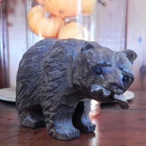 hand carved wood bear 8