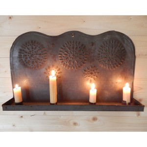 punched tin candle holder 6