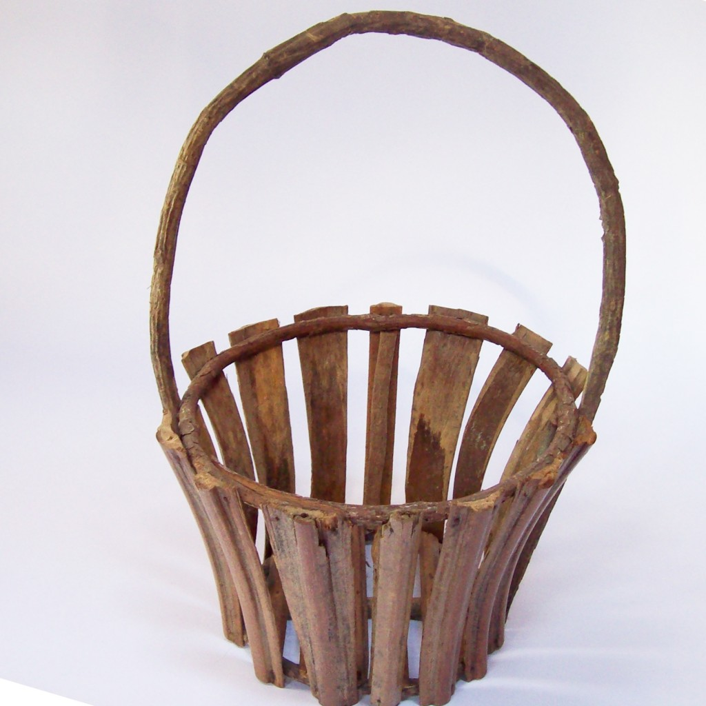 Adirondack-Style Bent Wood Basket