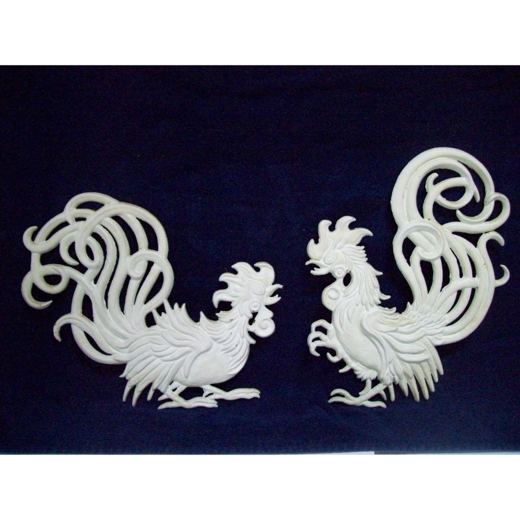 Vintage Vermay Rooster Wall Hangings