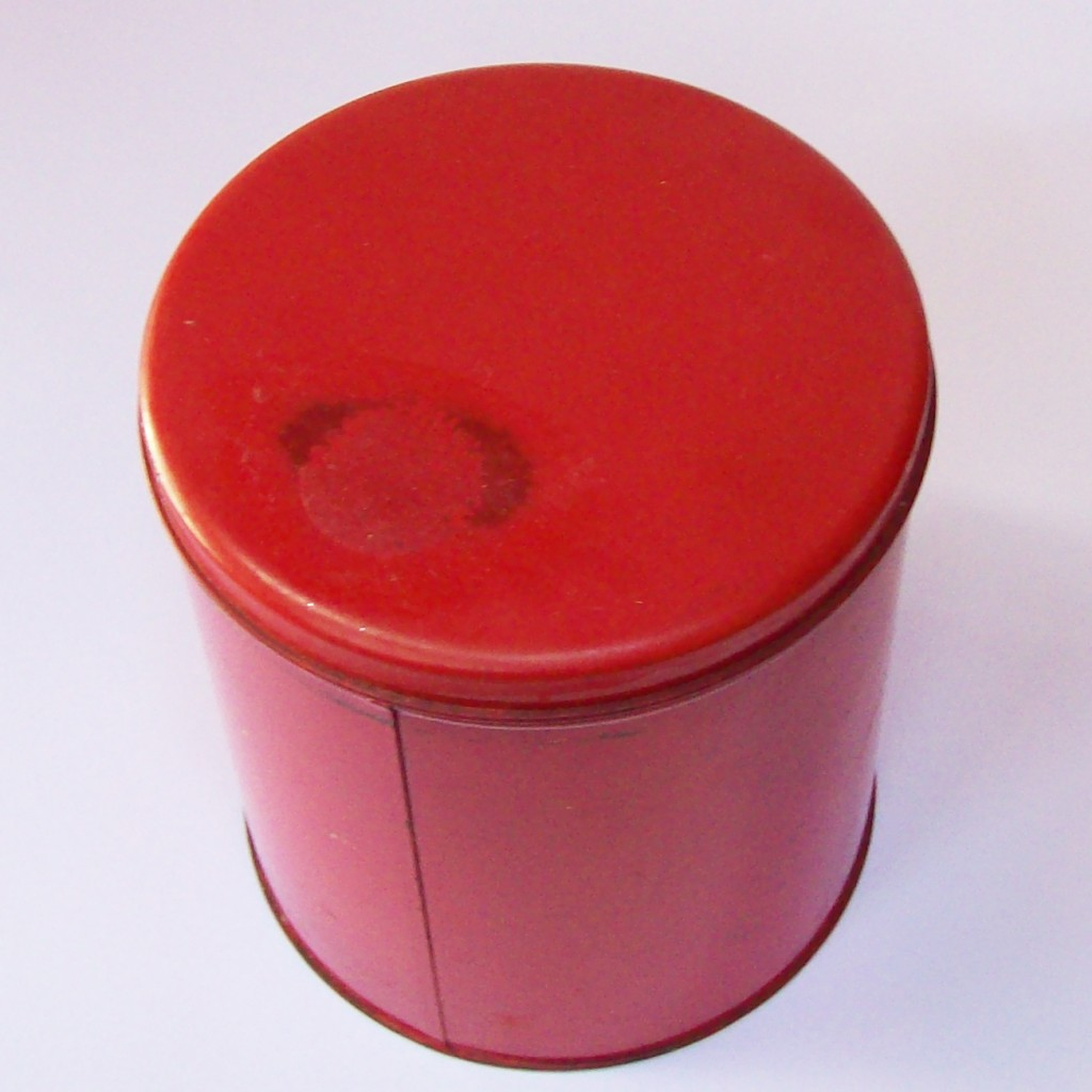 Vintage Red Canisters - Tropical Fish