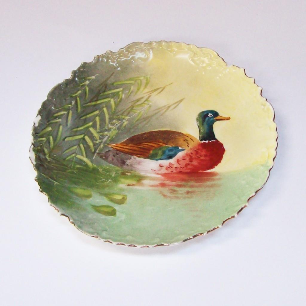 Antique Limoges Duck Plate